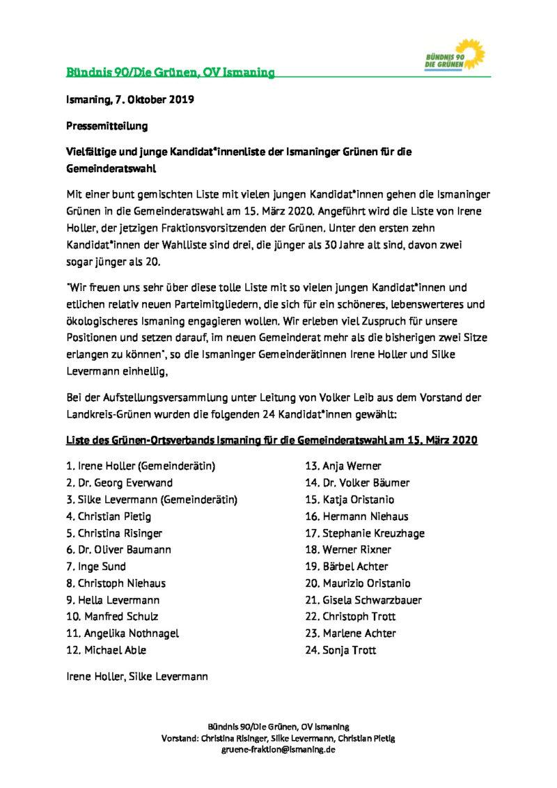 thumbnail of PM_Aufstellungsversammlung_Grüne_Ismaning_07102019